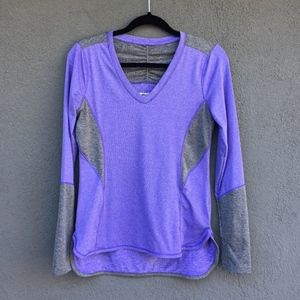 Marika Purple & Grey Long-Sleeve Workout Shirt